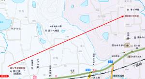 国分寺 讃岐の基準線 地図