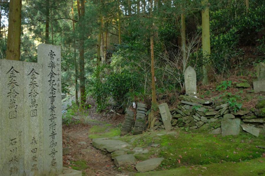 三角寺 奥之院仙龍寺への道
