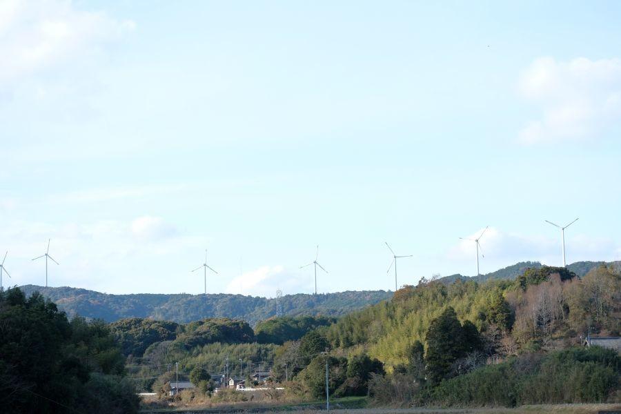 大月ウインドファーム 風力発電