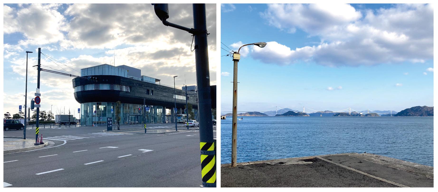 今治港の景色