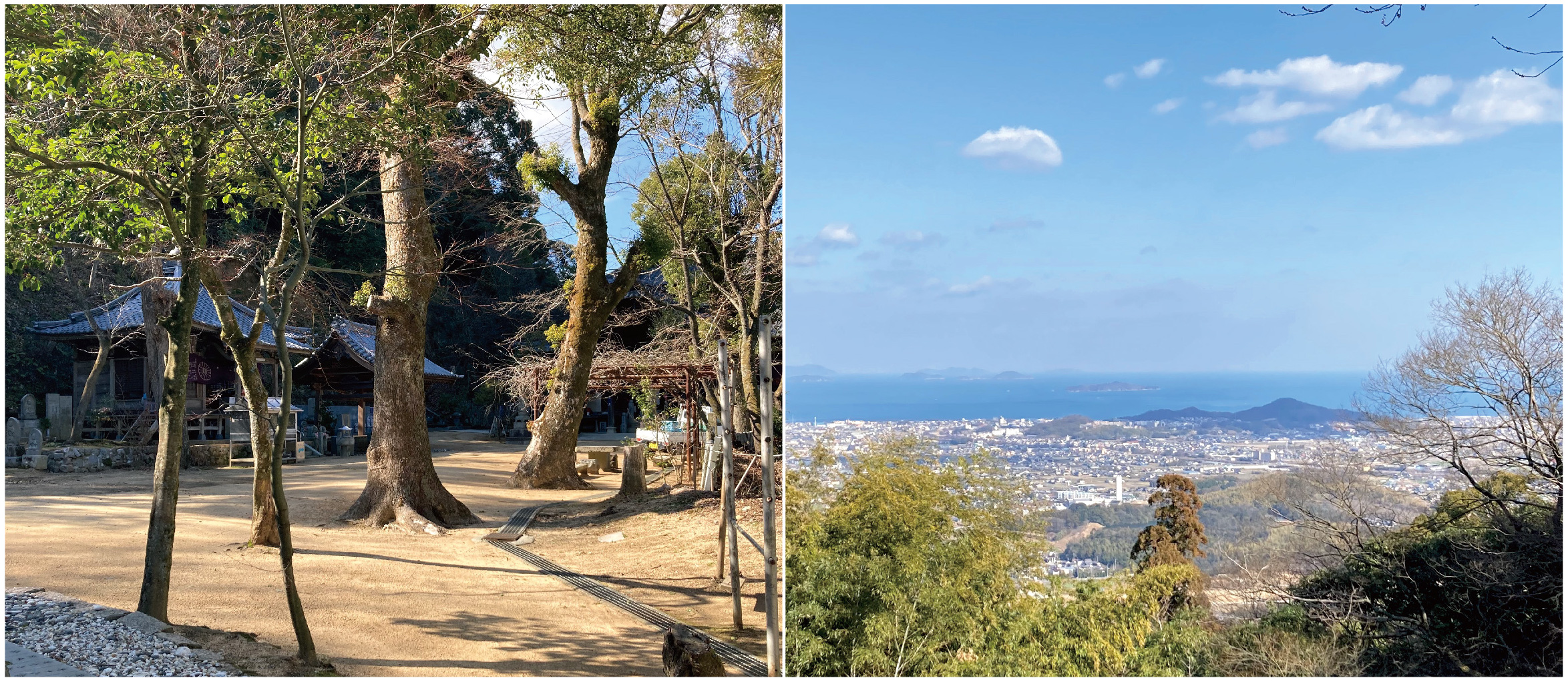 仙遊寺境内と眺望