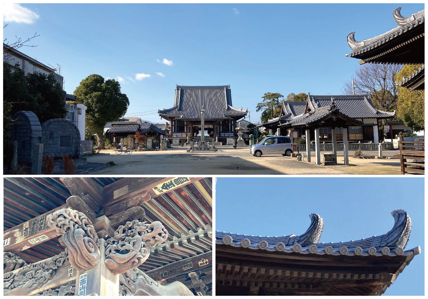 南光坊本殿と彫刻