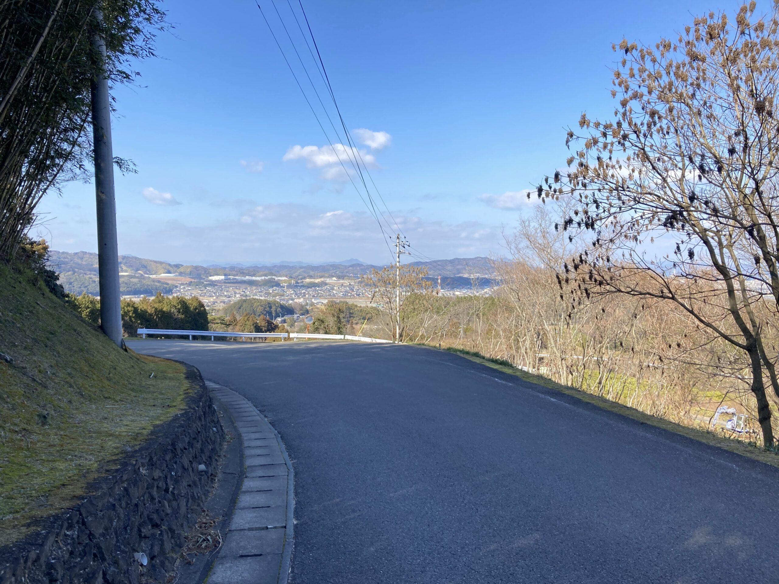 仙遊寺からの下り道
